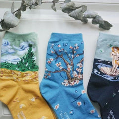 art painting socks van gogh tumblr aesthetic clothes boogzel apparel