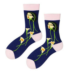 Abstract Lily Socks plant mom aesthetics boogzel apparel