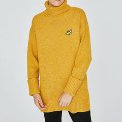 Banana Roll Neck Sweater
