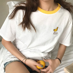 Banana embroidery Tee boogzel apparel