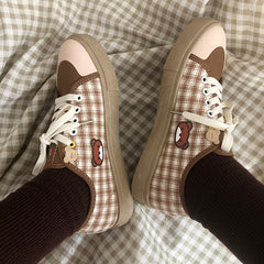 Bear Lace Up Sneakers