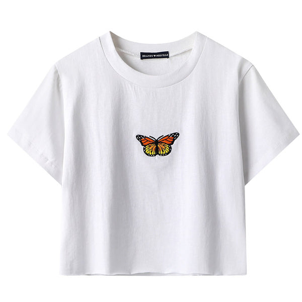 Butterfly Cropped Tee