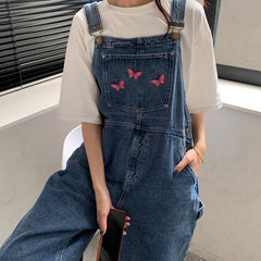Butterfly Denim Overalls