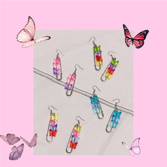 Butterfly Safety Pin Earrings boogzel apparel
