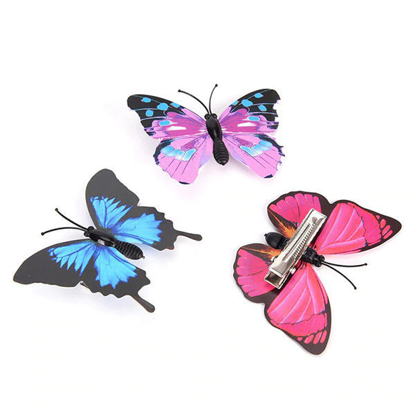 Butterfly Hair Clips Set