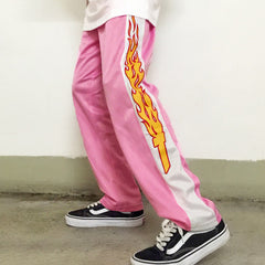 Flames Pants pink boogzel apparel buy shop usa uk