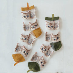 cat transparent socks boogzel apparel