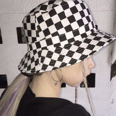 checker bucket hat boogzel apparel