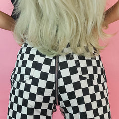 Checkered Full Zip Pants boogzel apparel