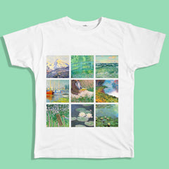 claude monet t-shirt, monet shirt, painting shirt, van gogh, grunge, soft grunge, grunge fashion, aesthetic clothes, aesthetic outfit, pale grunge, pastel grunge, aesthetic tumblr