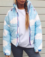 Blue Cloud Jacket boogzel apparel free shipping