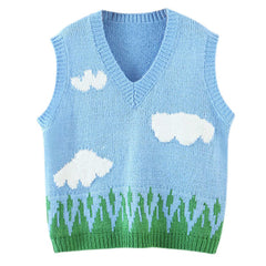 cloud knit vest boogzel apparel