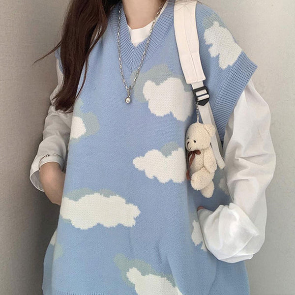 Cloudy Skies Knit Vest