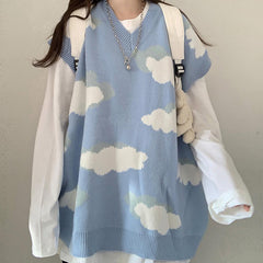 cloud blue sky sweater boogzel apparel
