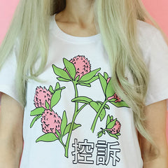 aesthetic soft grunge flower pnk japan t-shirt boogzel apparel