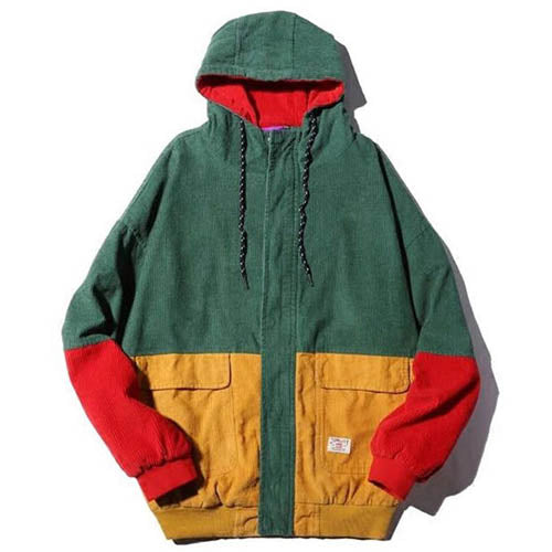 90s Kids Corduroy Hooded Jacket