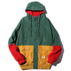 90s Kids Сorduroy Hooded Jacket green boogzel apparel