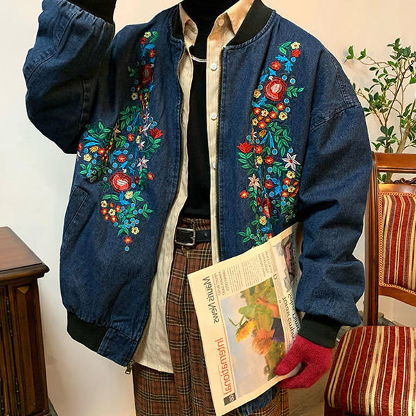 Сottagecore Embroidered Denim Jacket
