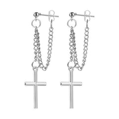 cross earrings boogzel apparel