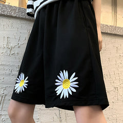 shop Daisy Embroidery Shorts boogzel apparel