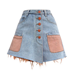 Artsy Denim Skirt