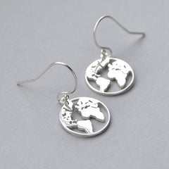 Earth Outline Earrings boogzel apparel
