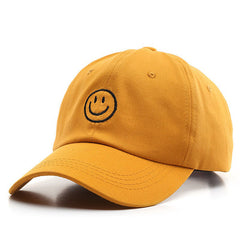 yellow emoji cap boogzel apparel