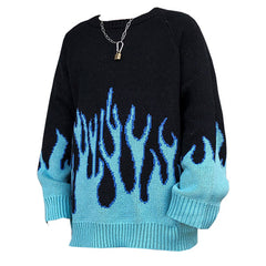 Blue Flame Sweater