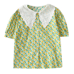 collar floral blouse boogzel apparel