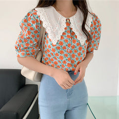 floral collar blouse boogzel apparel