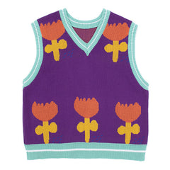 Happy Flower Knit Vest
