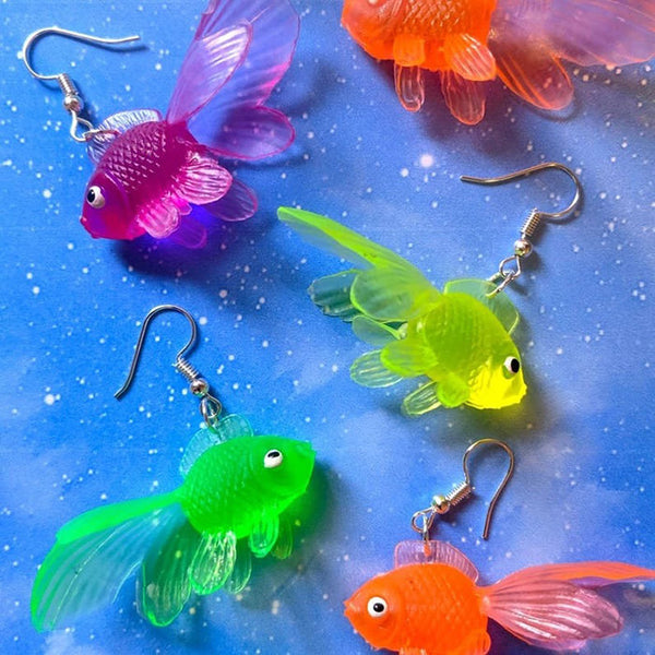 Multicolour Goldfish Earrings