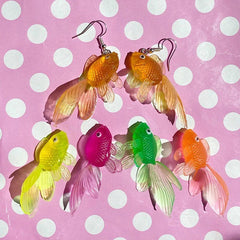 Multicolour Goldfish Aesthetic Earrings