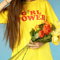 Girl Power T-Shirt yellow boogzel apparel