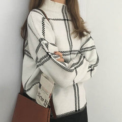 Grid Lounge Sweater