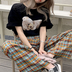 grunge aesthetic bear t-shirt boogzel apparel