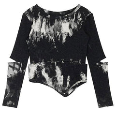 grunge black crop top boogzel apparel