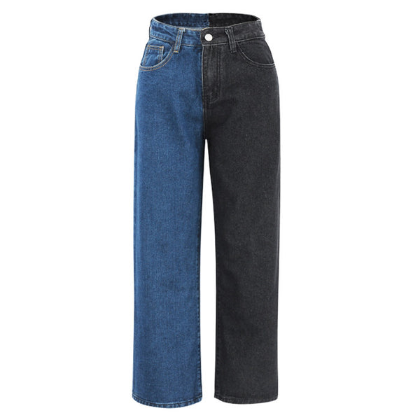 Missed Calls Split Color Jeans