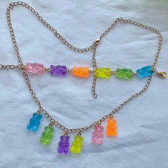 jelly bear necklace