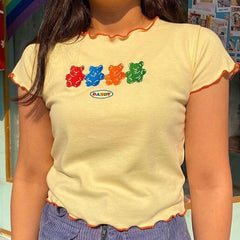 gummy bear yellow t-shirt boogzel apparel