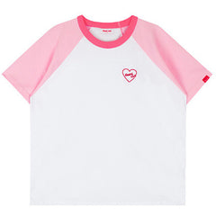 Pink Heart Club Reglan T-Shirt