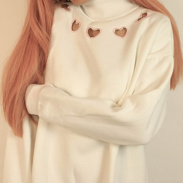 Heart Cut Out Sweatshirt