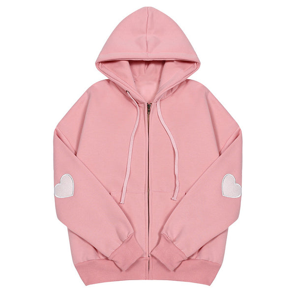 Heart Elbow Patch Hoodie