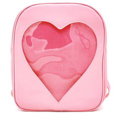 pink Heart Glitter Backpack boogzel apparel