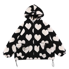 heart hooded jacket boogzel apparel