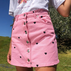 heart pink skirt boogzel apparel