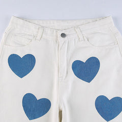 heart print wide pants boogzel apparel