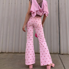 pink heart trousers boogzel apparel