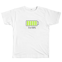 iPhone battery I'm 100% T-shirt buy boogzel apparel white