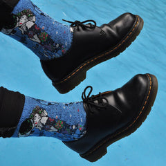 The Kiss Klimt Socks in Blue